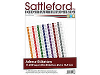 Sattleford 11200 Adress-Etiketten Super-Mini 25,4x16,9 mm Laser/Inkjet